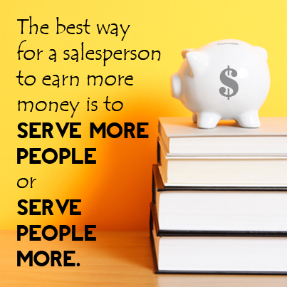 Sales = serve more
